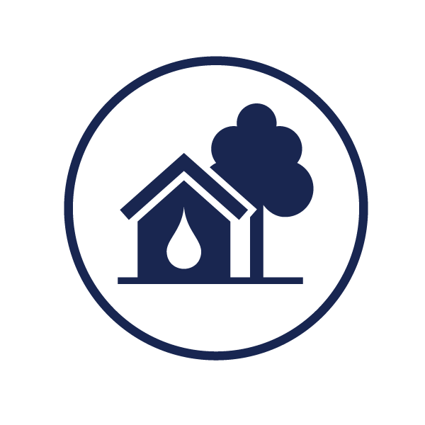 icon representing pollution prevention