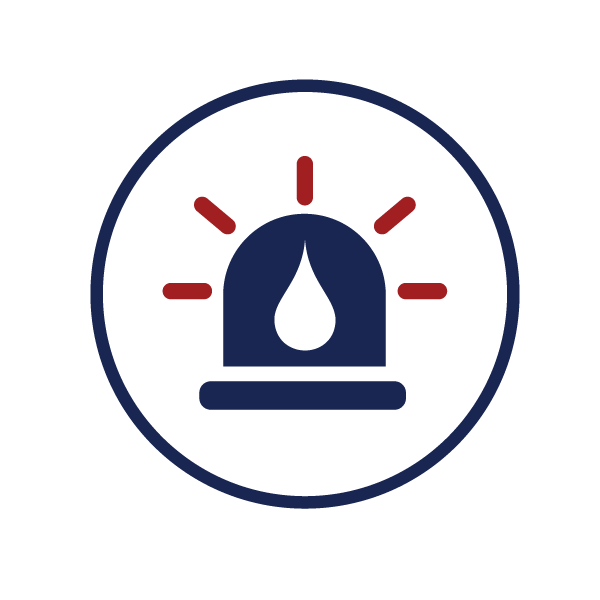 icon representing emergency water and sewer repairs