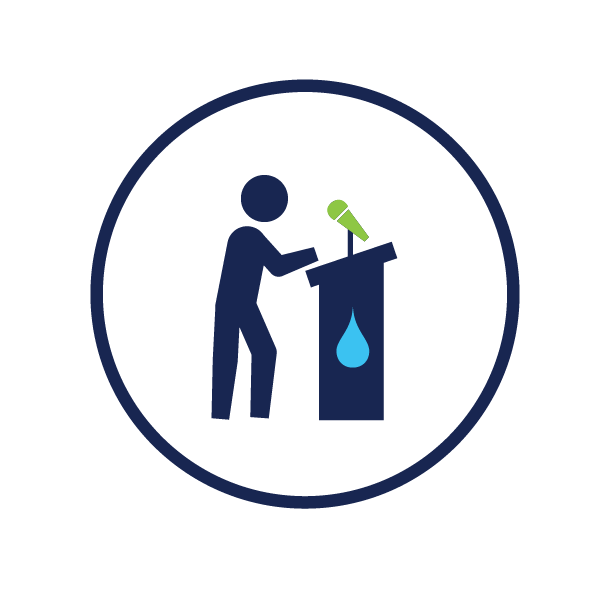 icon representing water education and outreach