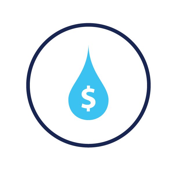 icon representing water rates
